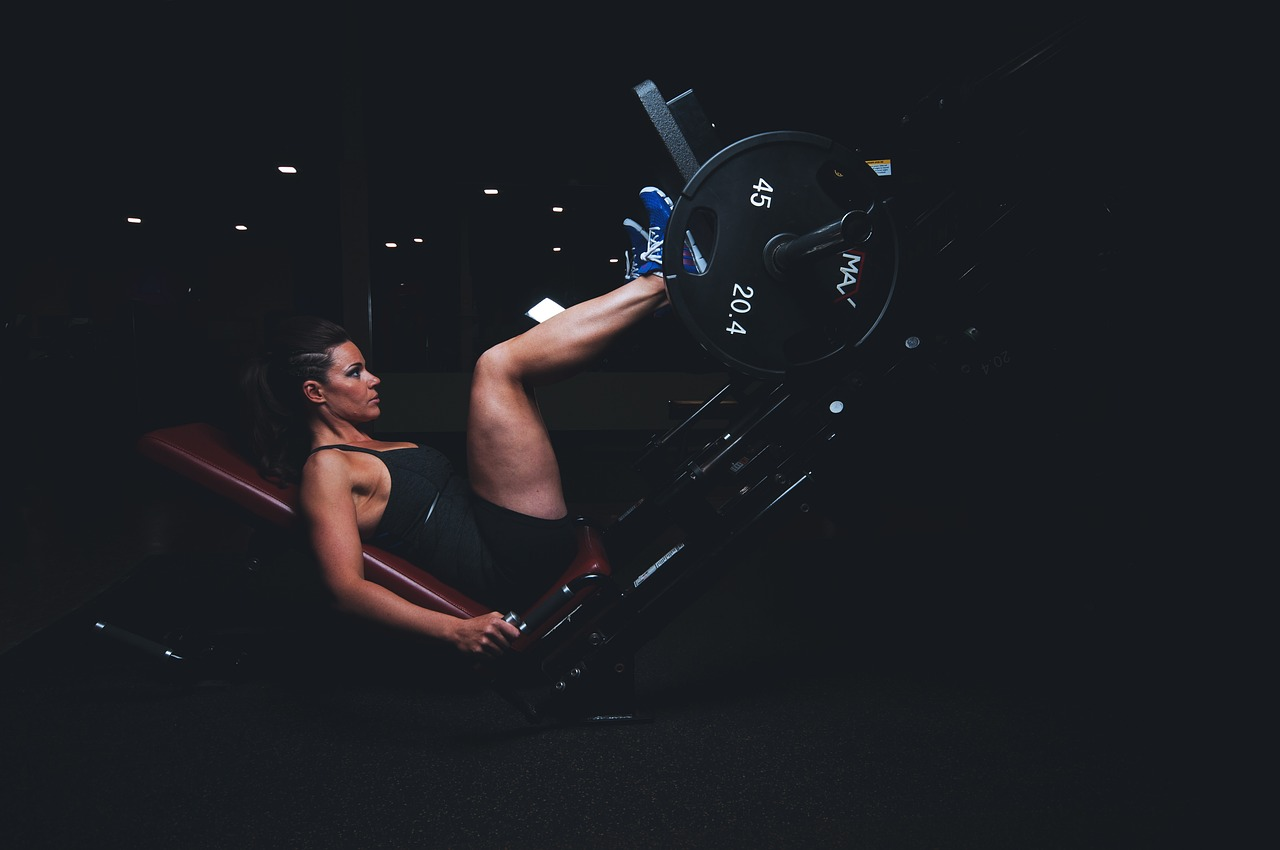workout in Spanish leg press