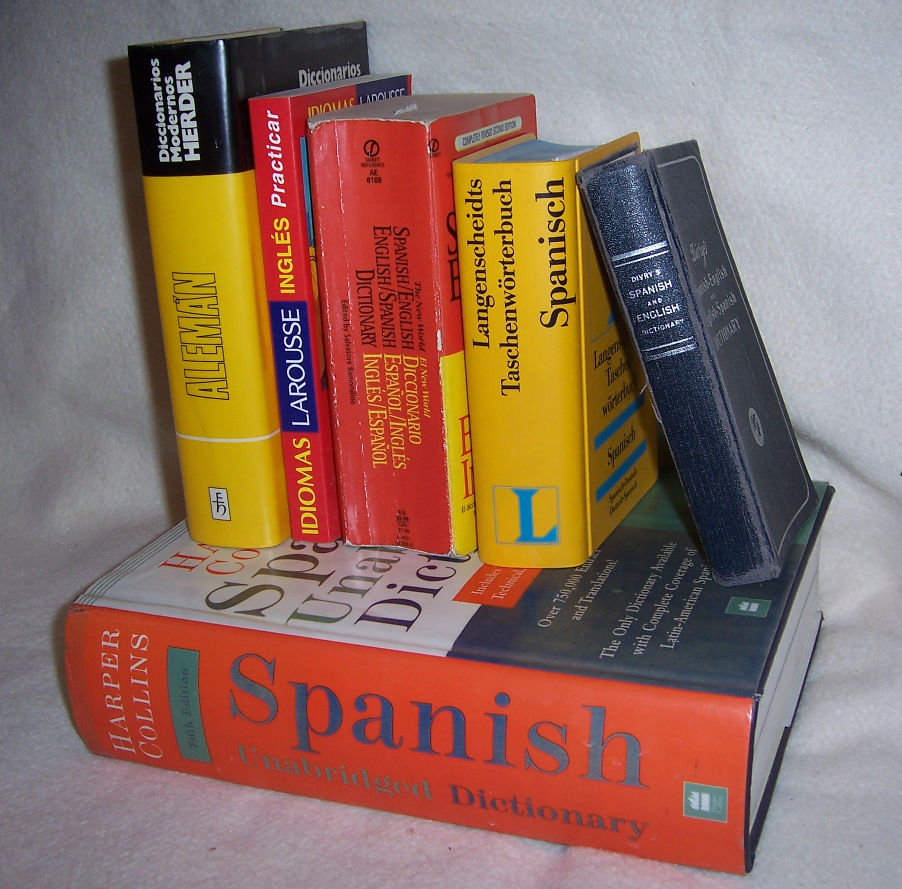 Spanish dictionary books