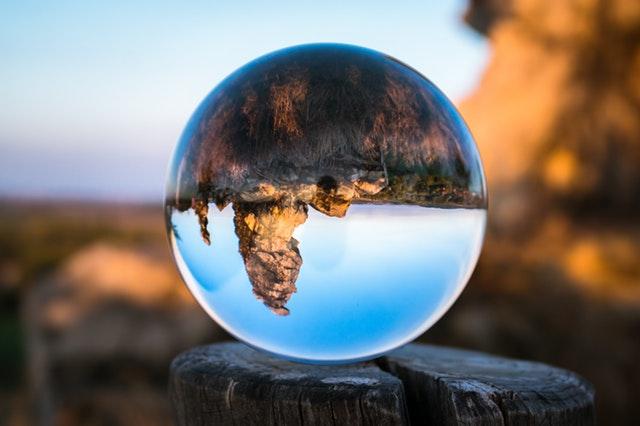 upside down globe