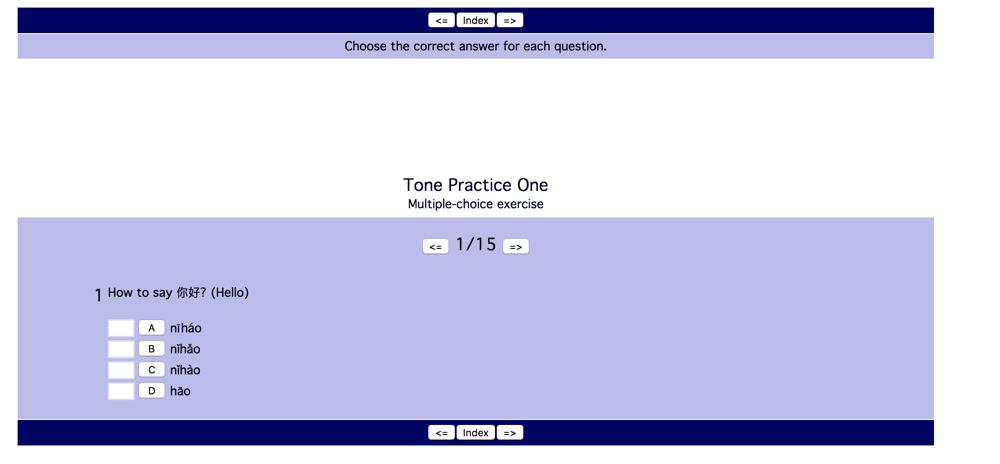 tone practice one