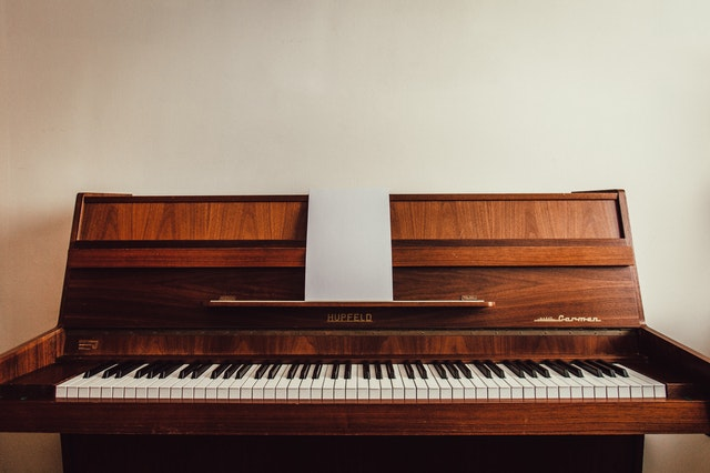 a wooden piano
