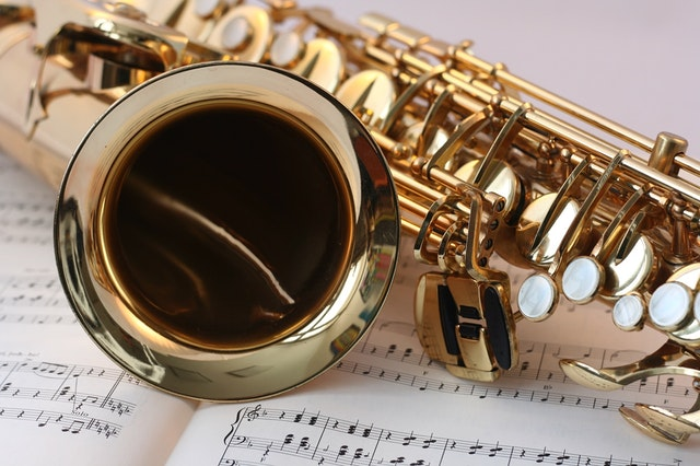 saxophone and sheet music
