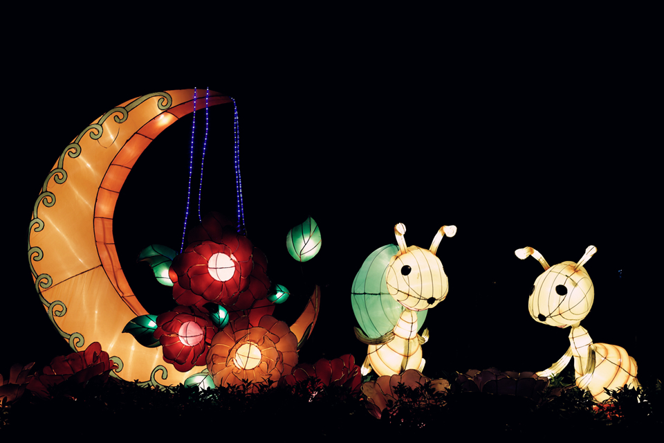 Lanterns are central to the lunar festival