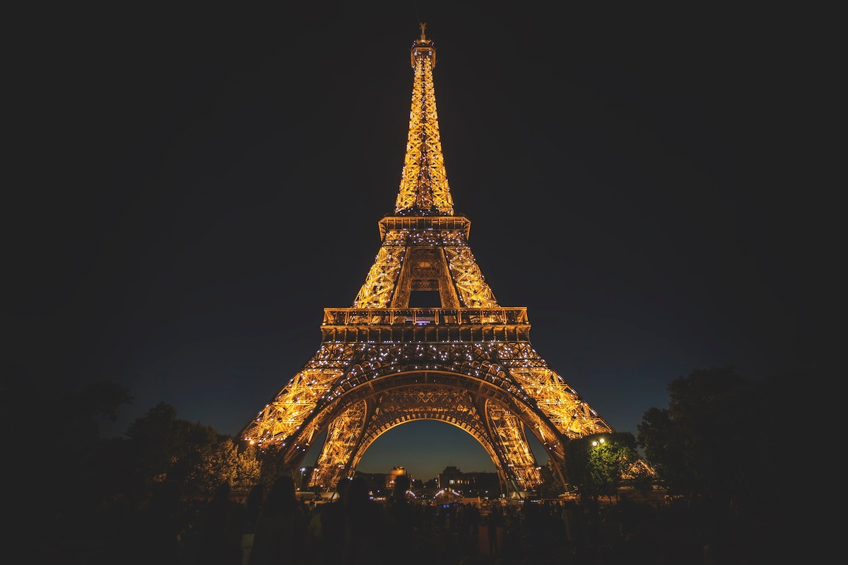 Eiffel Tower in the moonlight