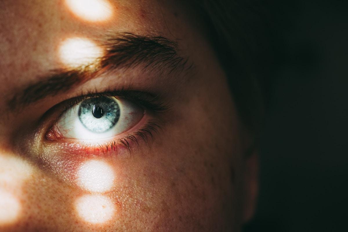 An eye looking