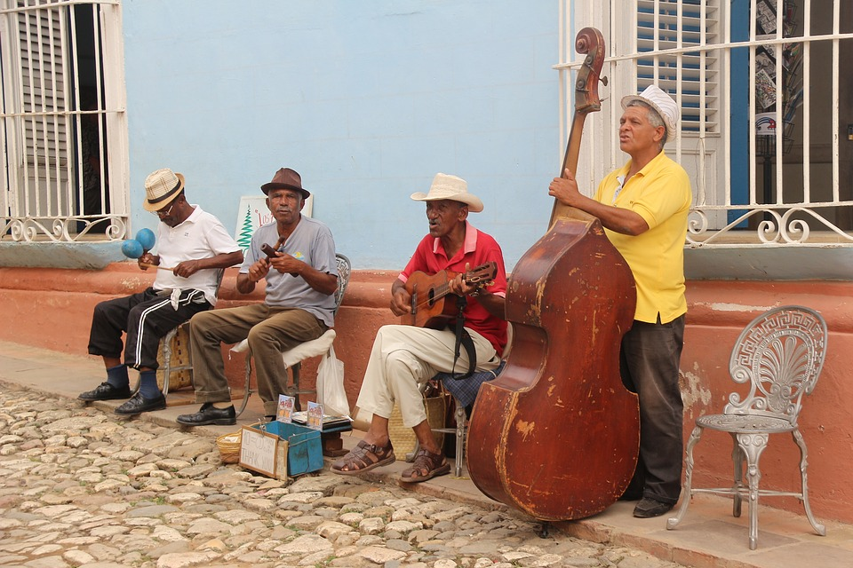 Cuban Salsa Band on the Street