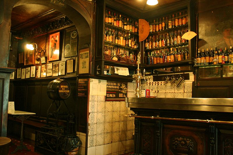 Interior of Spanish Bar With Wine
