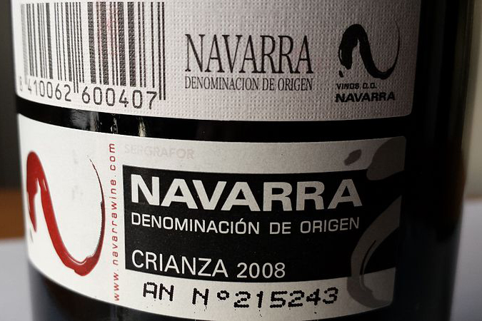 Wine Label From Navarra