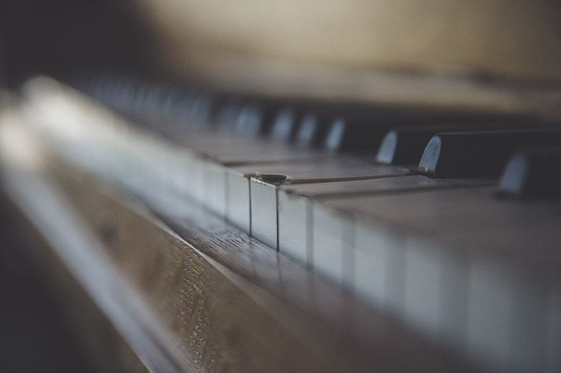Old Piano Close Up