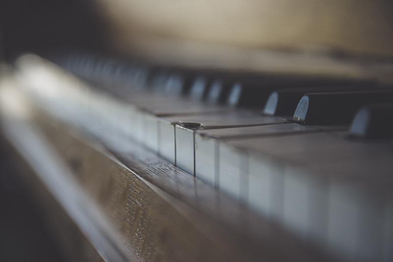 Old Piano Close Up
