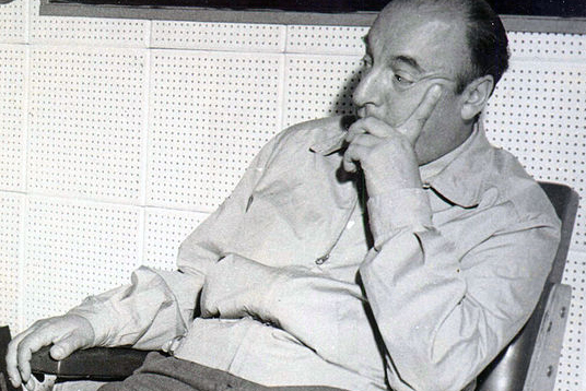 Pablo Neruda Sitting and Thinking