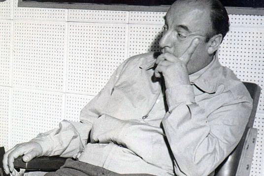 Pablo Neruda Sitting and Thinking
