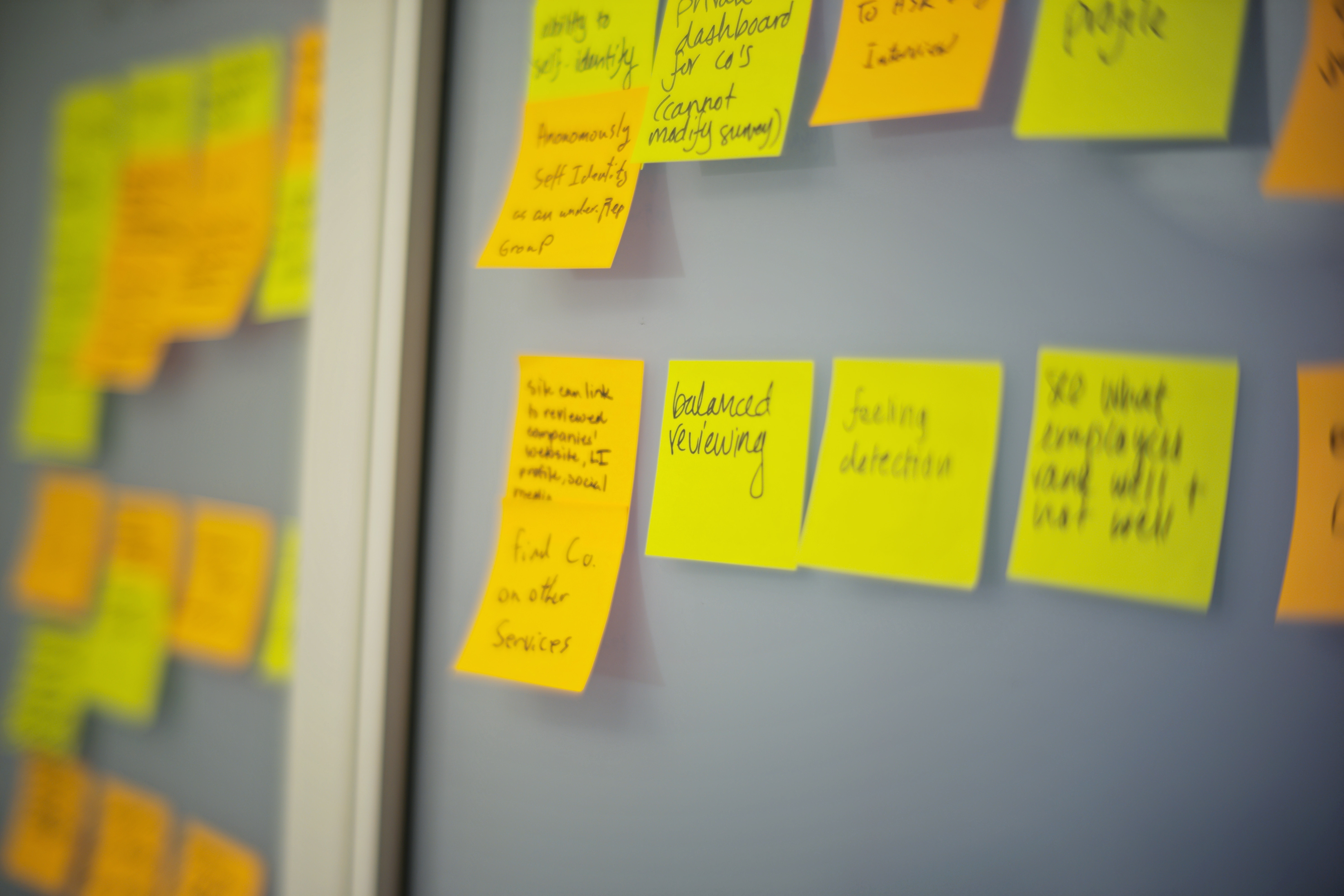 Post-It Notes Covering Wall