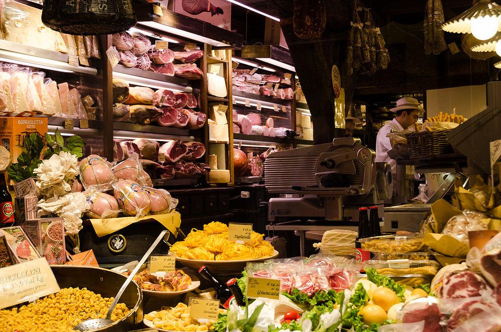 A food vendor in Bologna