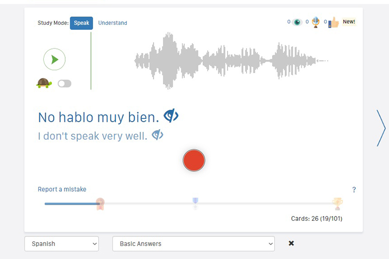 Speechling Spanish Conversation Practice