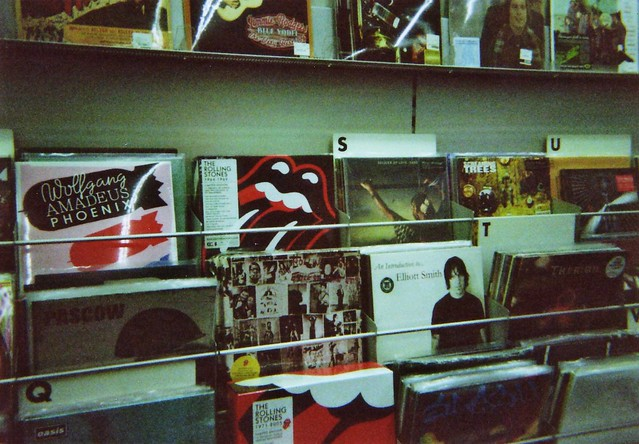 Record store shelf