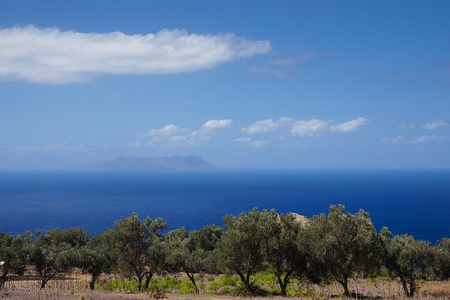 A view of the sea from Sicily