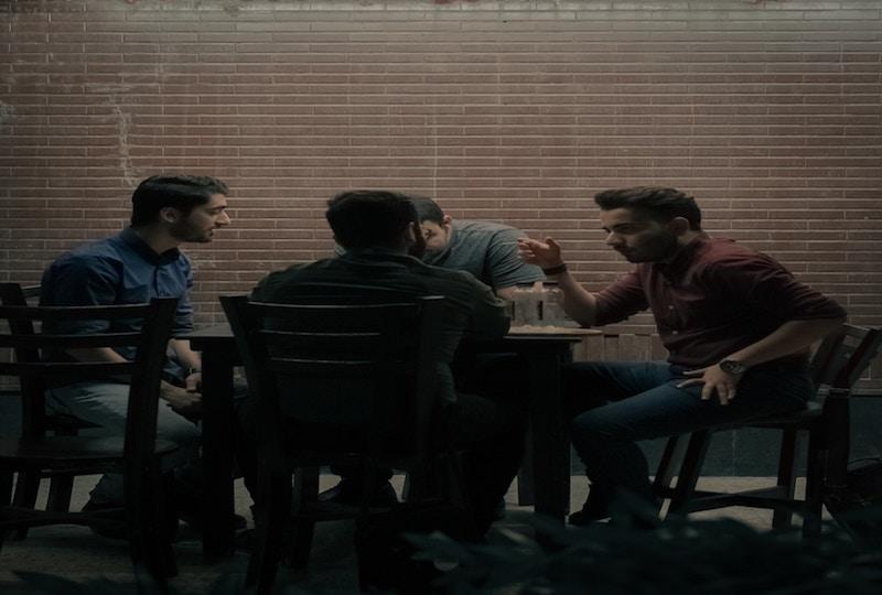 People Sitting Around Talking