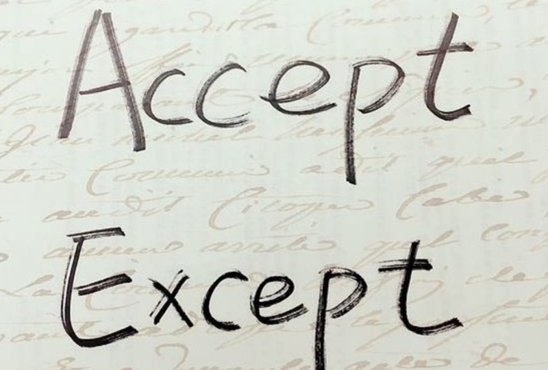 Accept and except