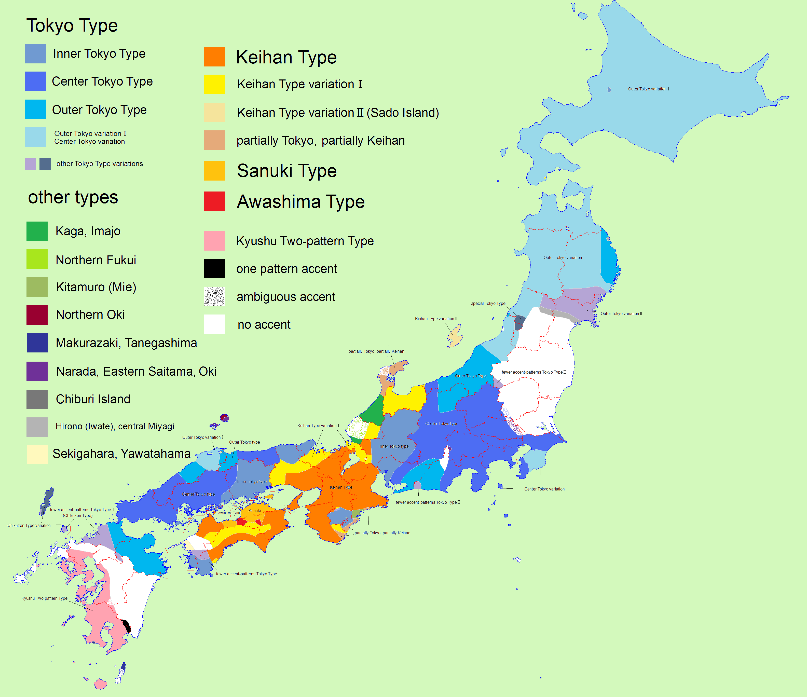 Japanese Pitch Accent Map