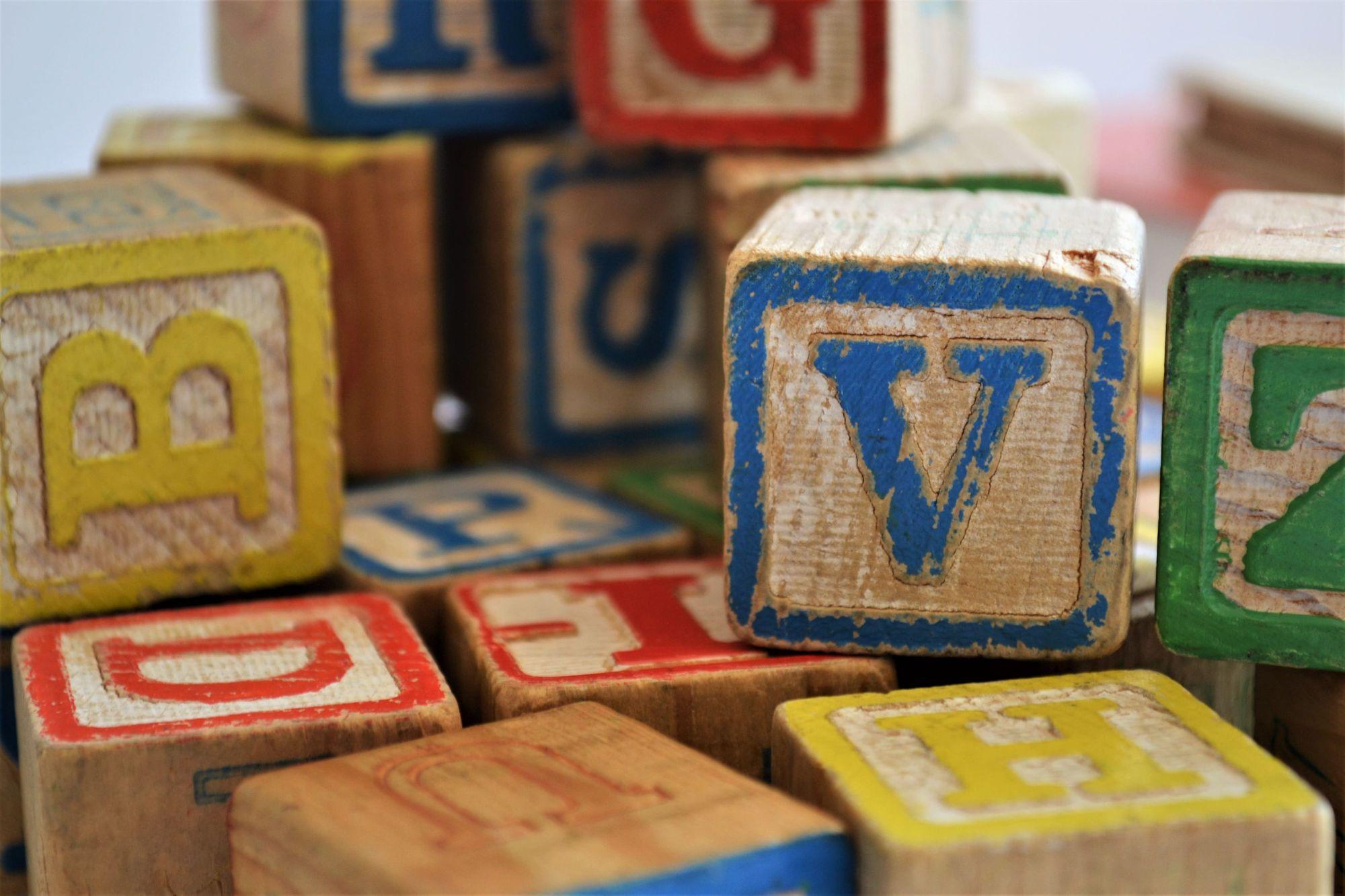 Lettered Building blocks