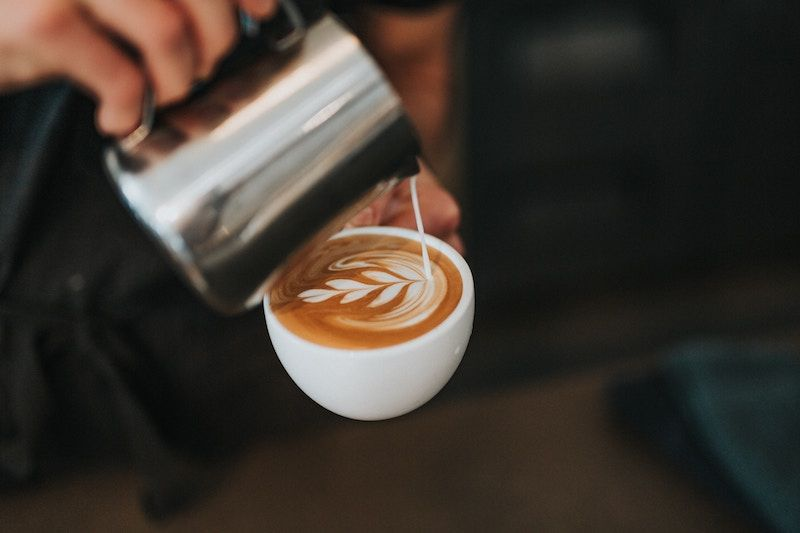 Pouring Coffee Cup