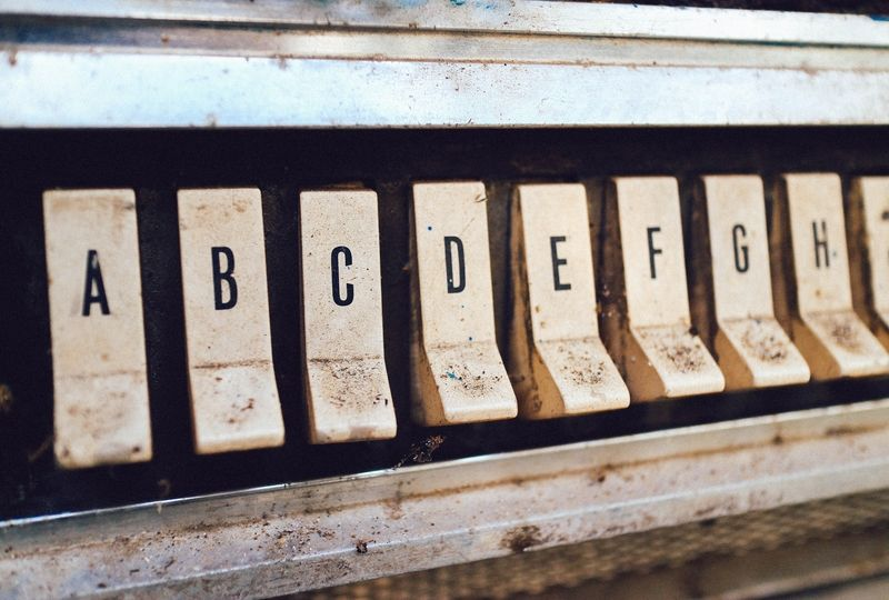 Letters on an old jukebox