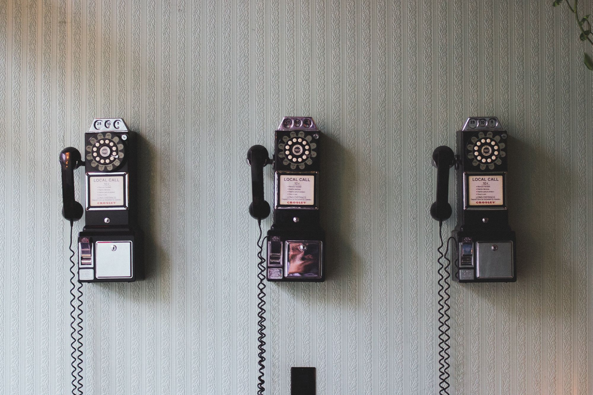 Three old-fashioned phones
