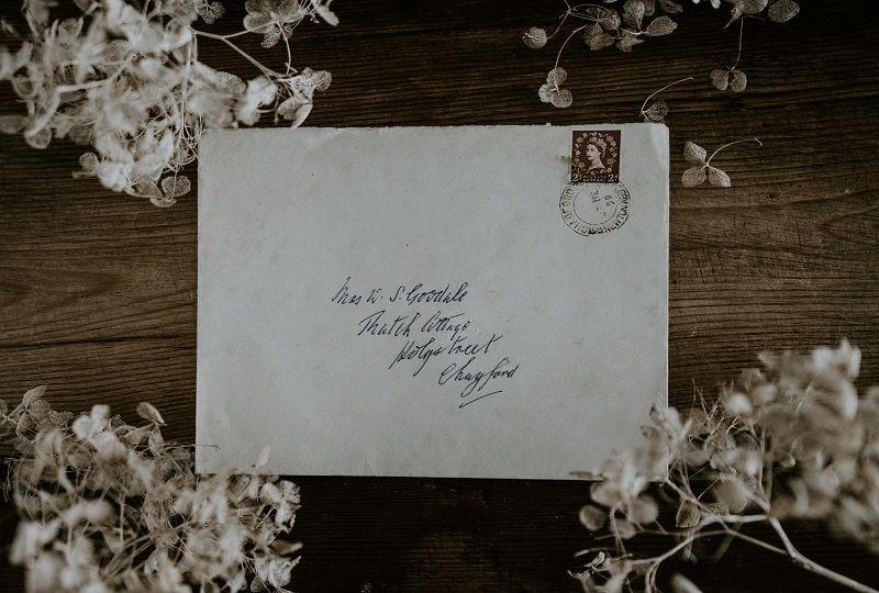 An addressed envelope