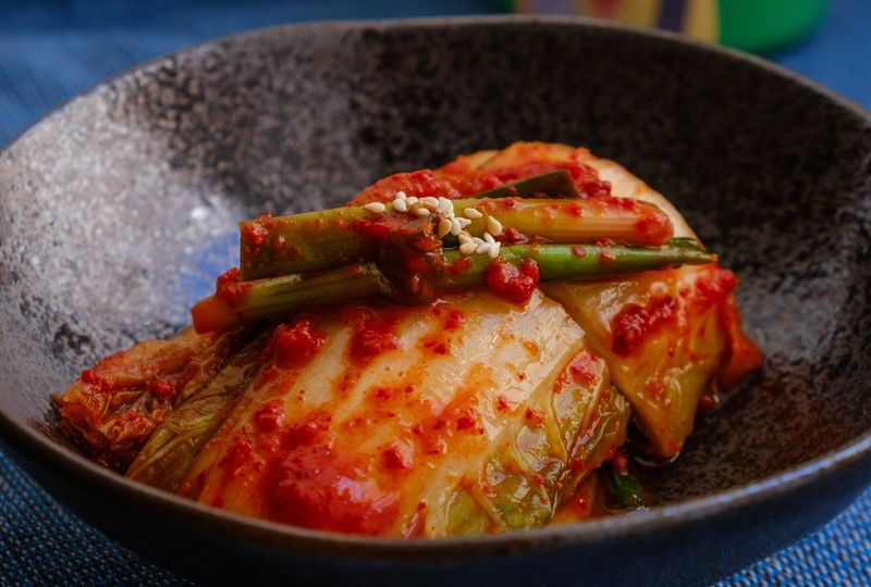 Closeup of kimchi