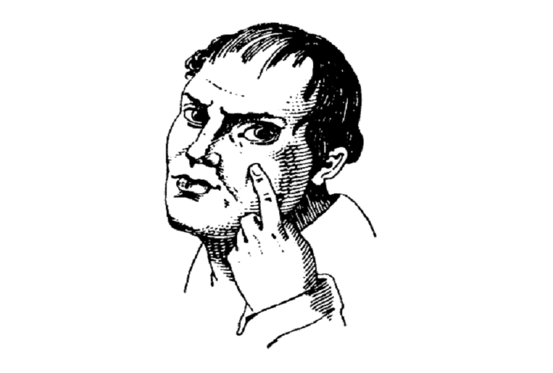 Eyelid pull gesture
