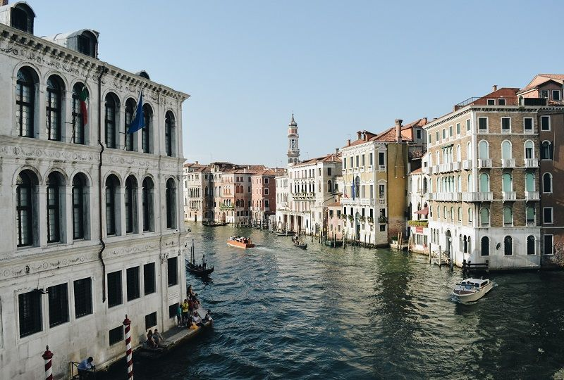 View of Venetian canal