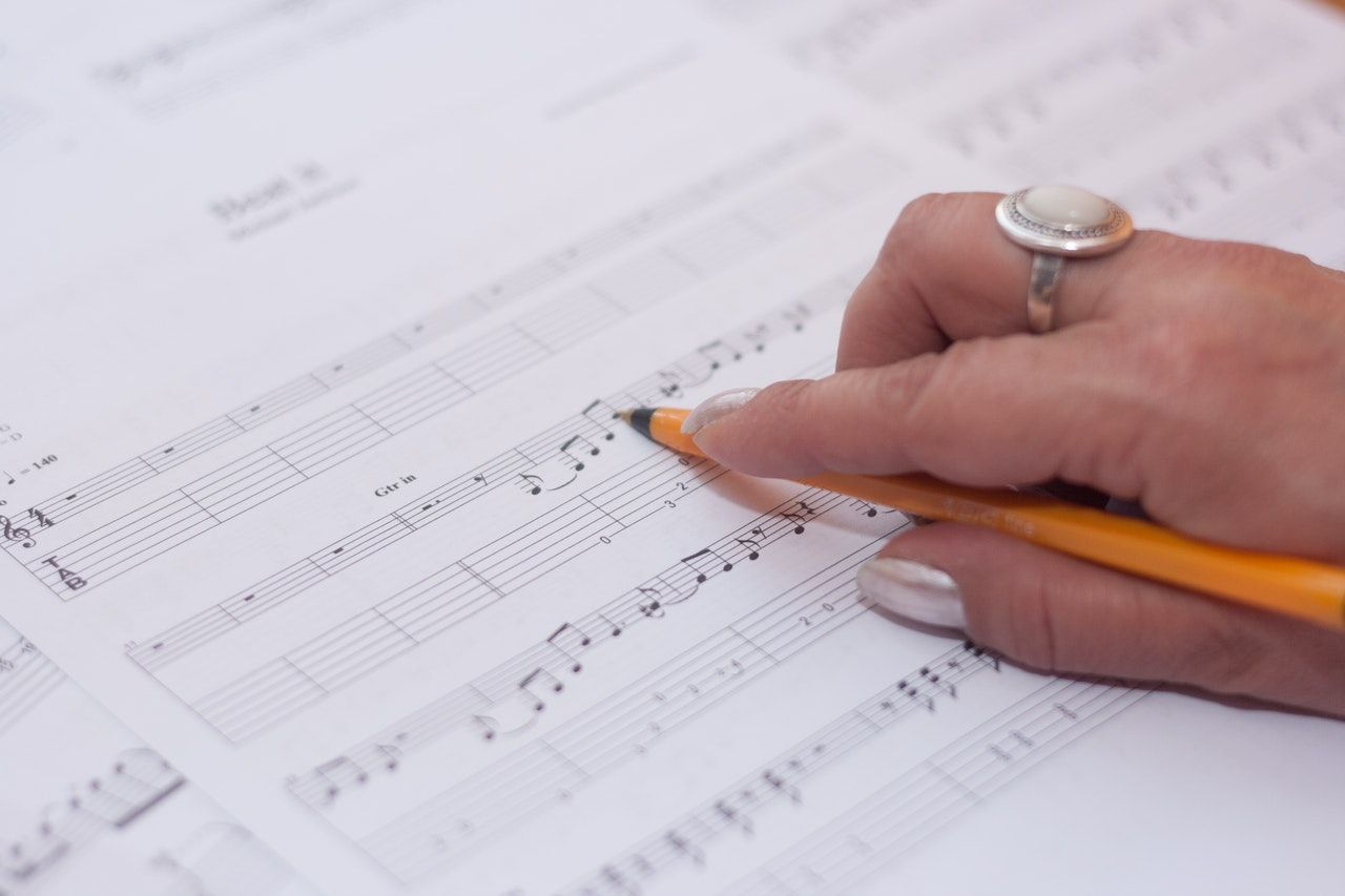 hand music musician composing notes