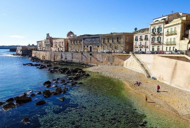 Beach in Ortigia, Sicily