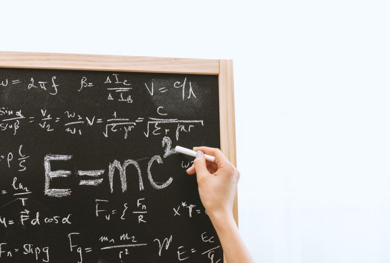 math equations on chalkboard