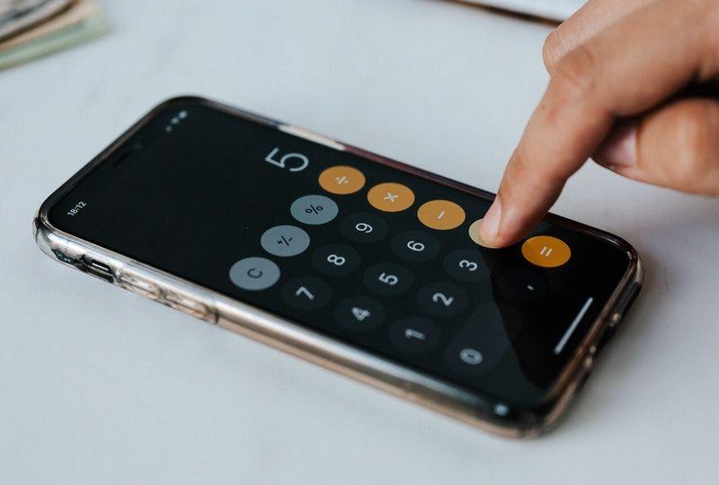 calculator on smartphone