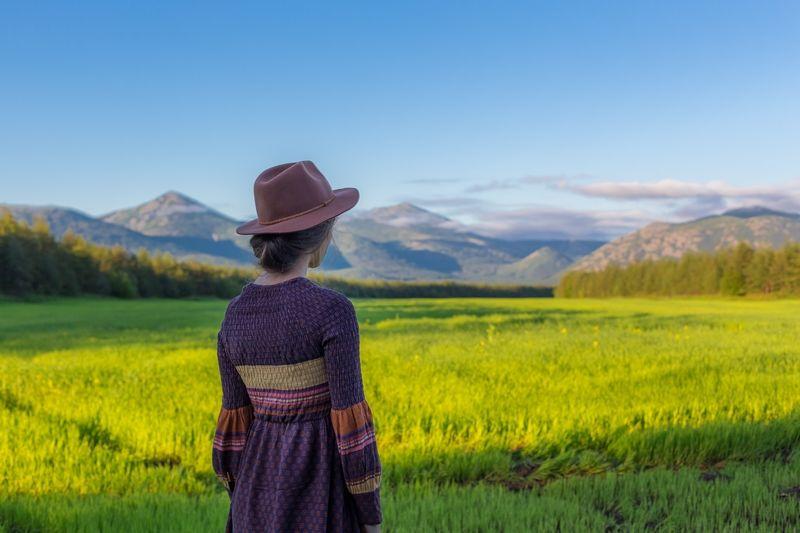 Girl in Russian Field