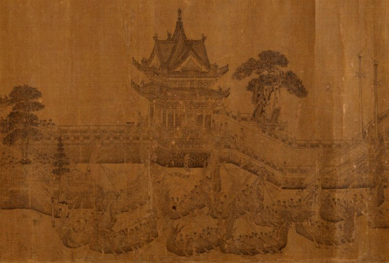 Section of Dragon Boat Regatta painting